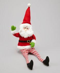 Фигурка декоративная Санта в красно-белых штанах
