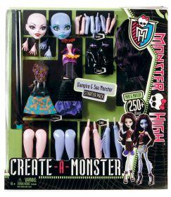 Игровой набор Создай монстра, Вампир и Морской монстр, MONSTER HIGH